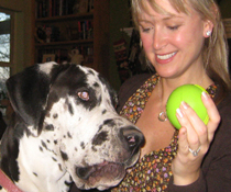 Joy The Dog Trainer With Great Dane